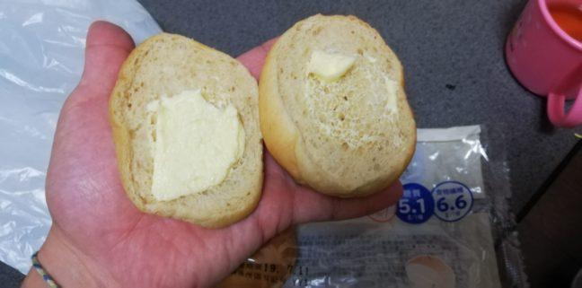 大麦パン バター入りマーガリンサンドの中身画像