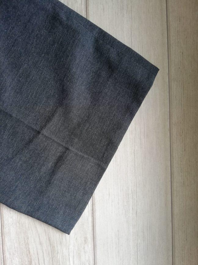 裁縫上手スティックを使って裾上げをしたズボンの画像